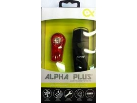ALPHA PLUS 1 Watt ultra bright front. 0.5 Watt rear