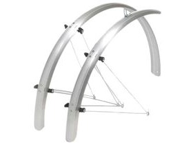 OXFORD 700c/27'' Std Wide 41mm Mudguards Black /Silver
