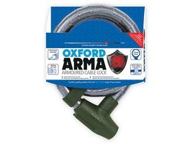 OXFORD Arma20 Armoured Cable Lock 22mm x 900mm Clear